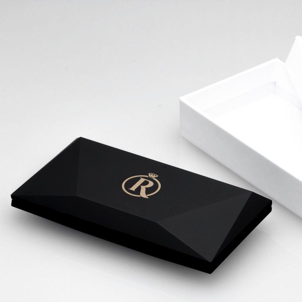 imagem do produto Estojo de Anel com Rosa Dentro, Exterior Preto