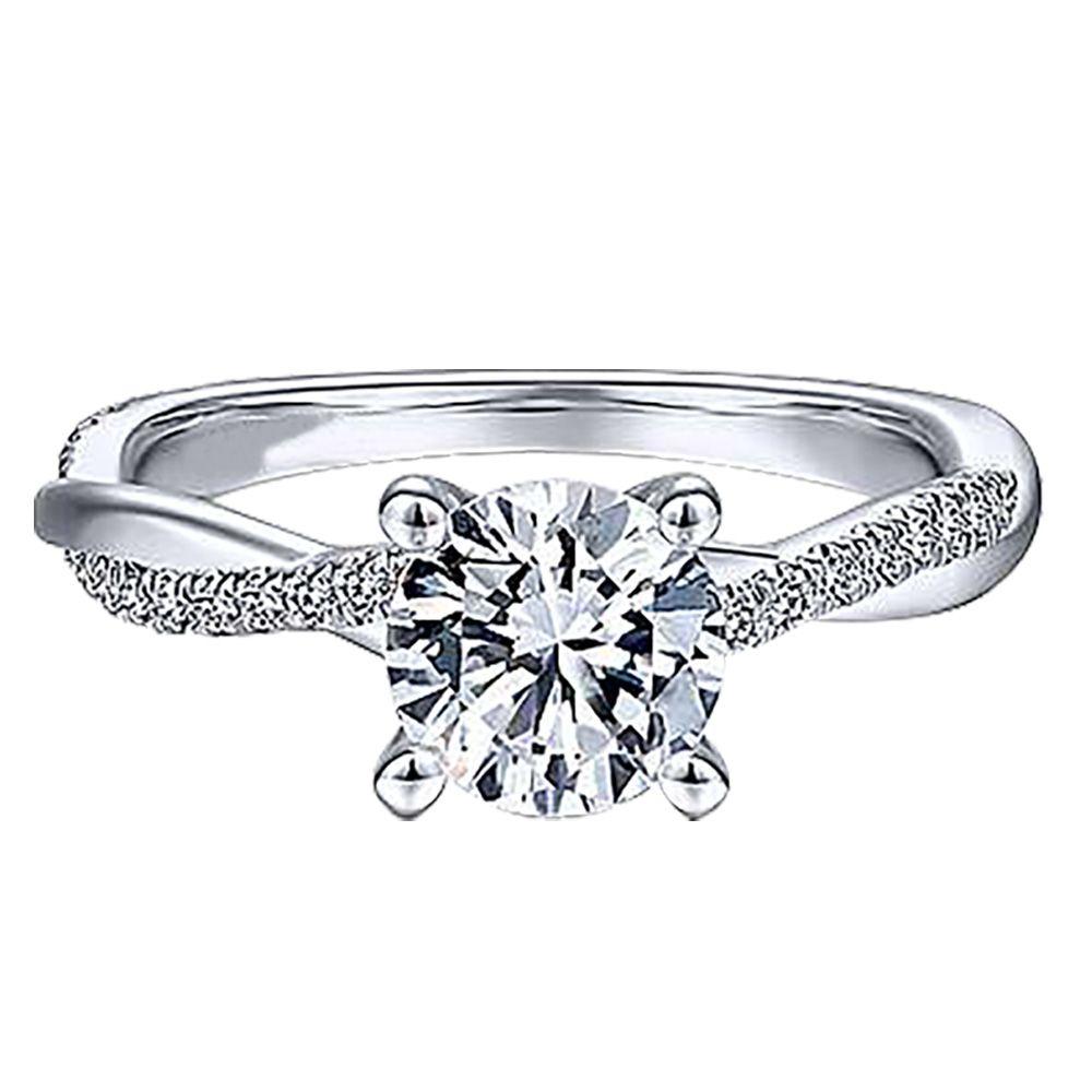 imagem do produto Anel de Compromisso Noivado ou Casamento Antuérpia Cód. 955