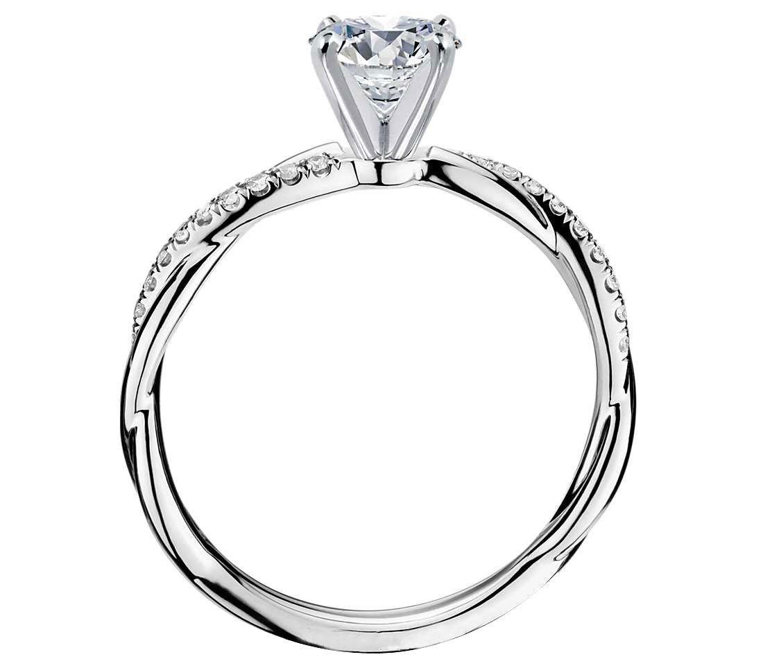 imagem do produto Anel de Noivado em Ouro Branco com Diamante de 53 Pts