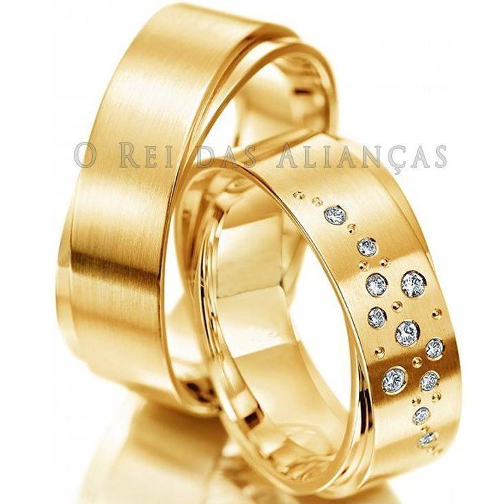 imagem do produto Alianças de Casamento ou Noivado Dubai III Cód. 646