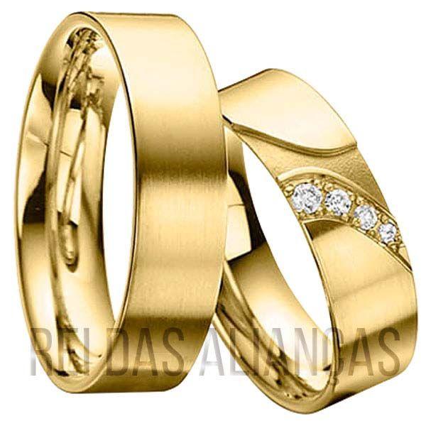 imagem do produto Alianças de Casamento, Noivado, Diamantes na Feminina Cód. 398