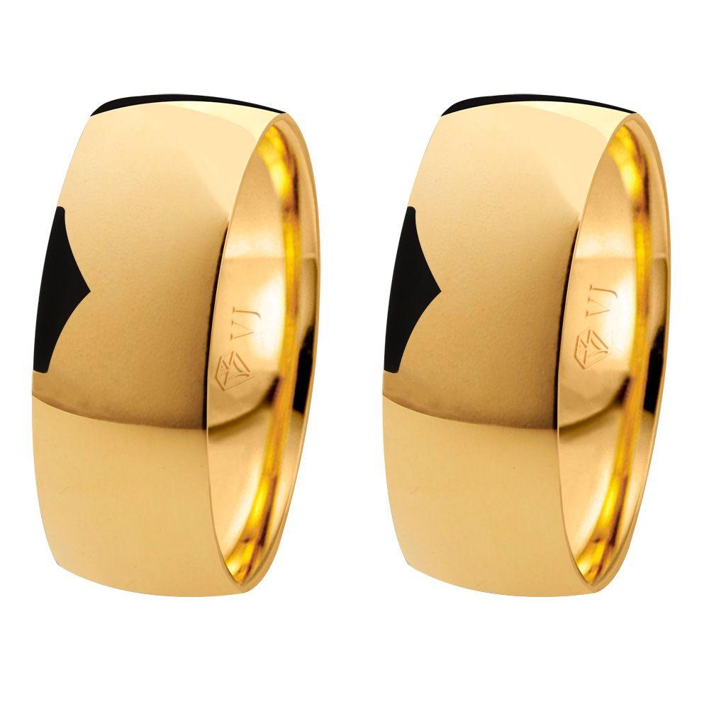 imagem do produto Alianças Anatômicas de Ouro 7mm de Largura