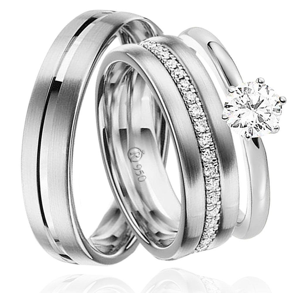 imagem do produto Alianças de delicada + anel Cód. 8594