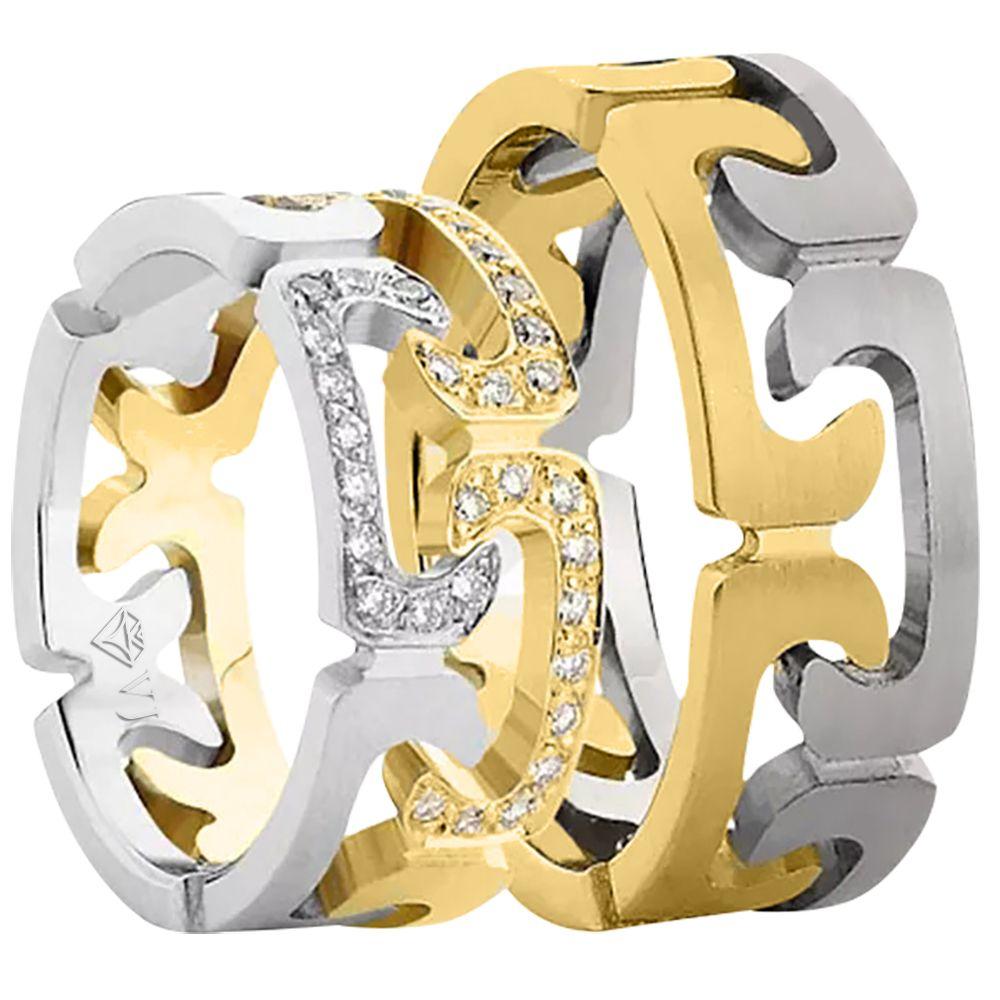 imagem do produto Alianças de Ouro Super Diferentes Cód. 579
