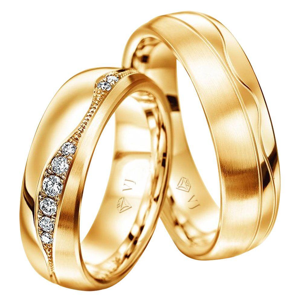 imagem do produto Alianças em Ouro Maravilhosas Top Luxo Cód. 374