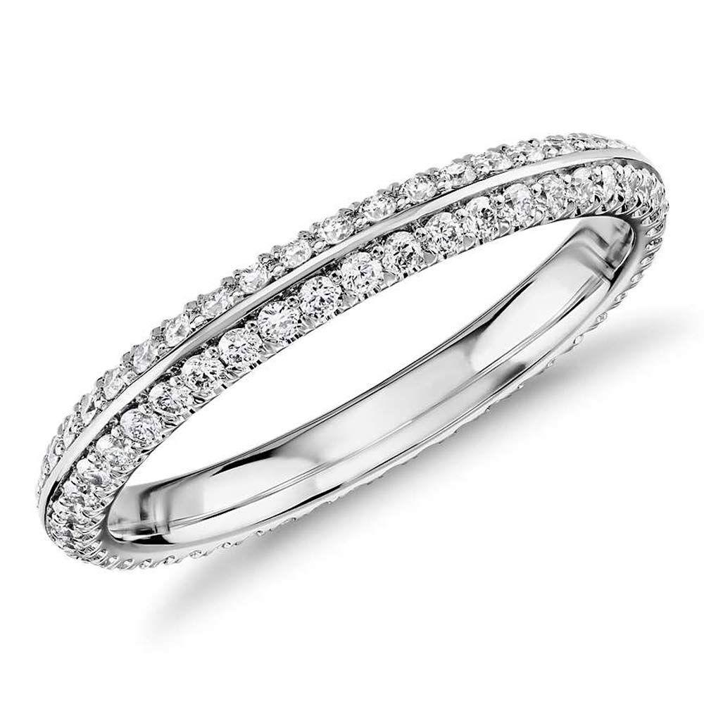 imagem do produto Aparador de Alianças em Ouro Branco com Diamantes Glam
