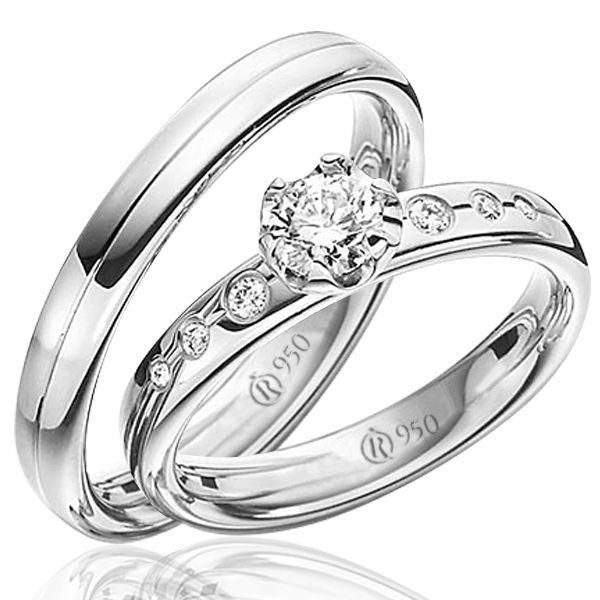 imagem do produto Alianças de compromisso em prata | Line Exclusive Cód. 8678