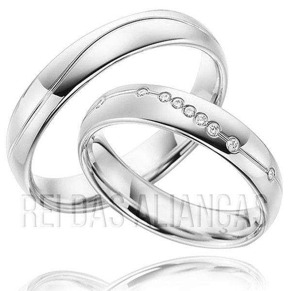imagem do produto Alianças de Prata Star Lux, 9 Pedras na Feminina Cód. 8715