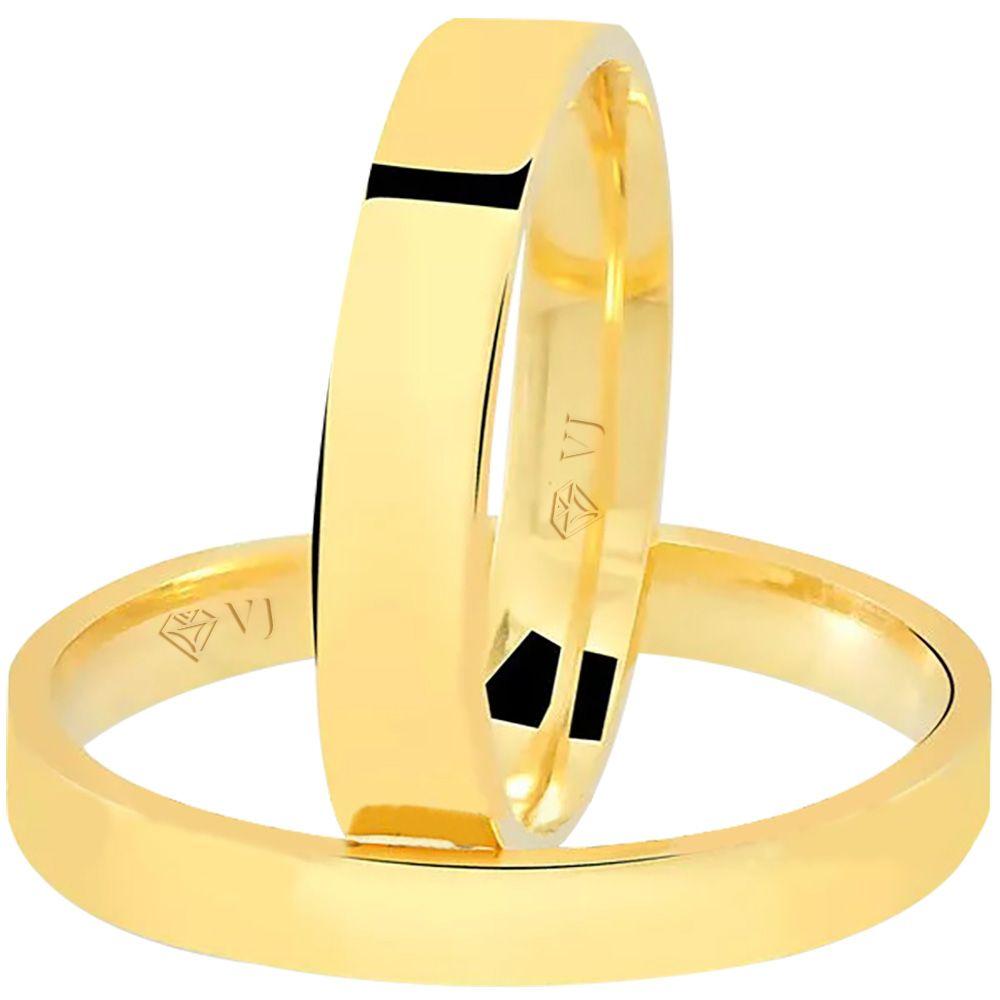 imagem do produto Alianças de Noivado ou Casamento Retas Cód. 877