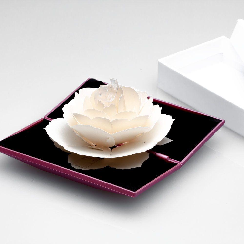 imagem do produto Caxinha de Anel de Noivado e Compromisso com Rosa 3D