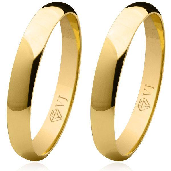 imagem do produto Alianças de ouro abauladas tradicionais 3,5mm Cód. 008