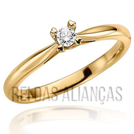 imagem do produto Anel de Ouro Com Diamante 20 Pontos Cód. 600