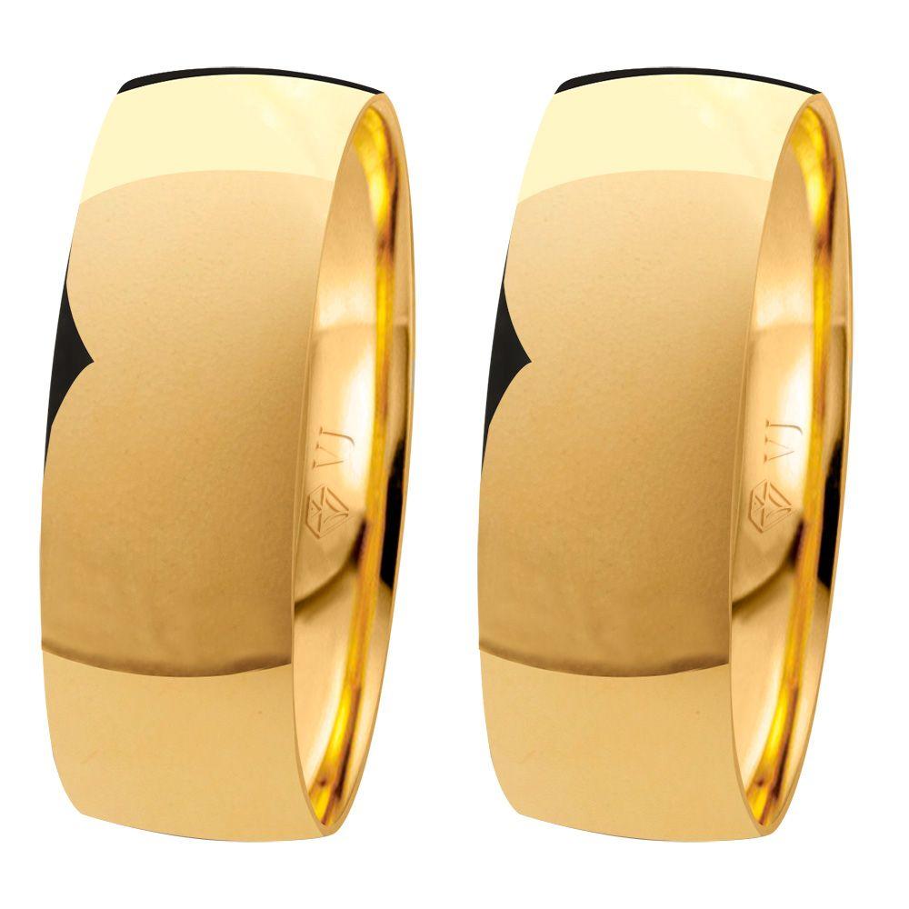 imagem do produto Alianças de Ouro para Casamento e Noivado 6,5mm de Largura