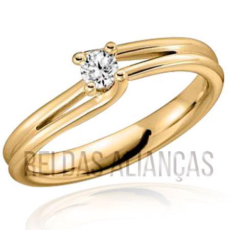 imagem do produto Anel de Casamento ou Noivado Cód. 590