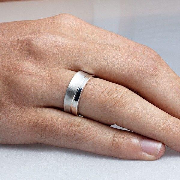 imagem do produto Alianças de Prata Côncavas, diamantes híbridos na feminina Cód. 8679