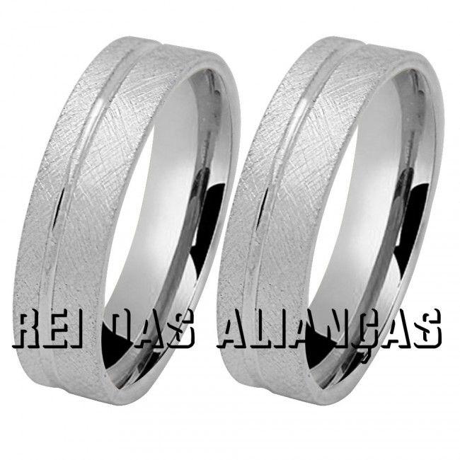 imagem do produto Alianças de prata foscas Cód. 8566-1