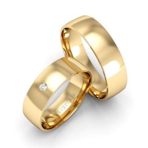 Alianças de Ouro 18k Diadema