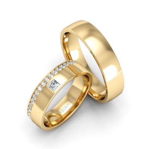 Alianças de Casamento Ouro 18K Inglaterra