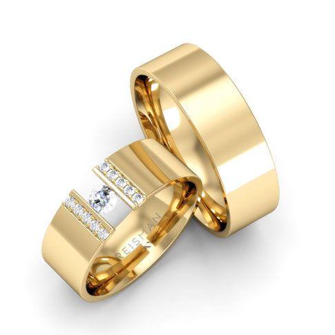 Alianças de Casamento Ouro 18K Israel