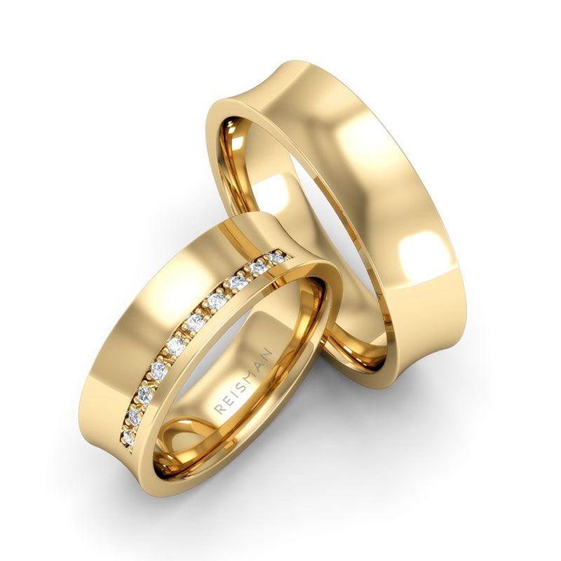 Alianças de Casamento Tókio Ouro 18k