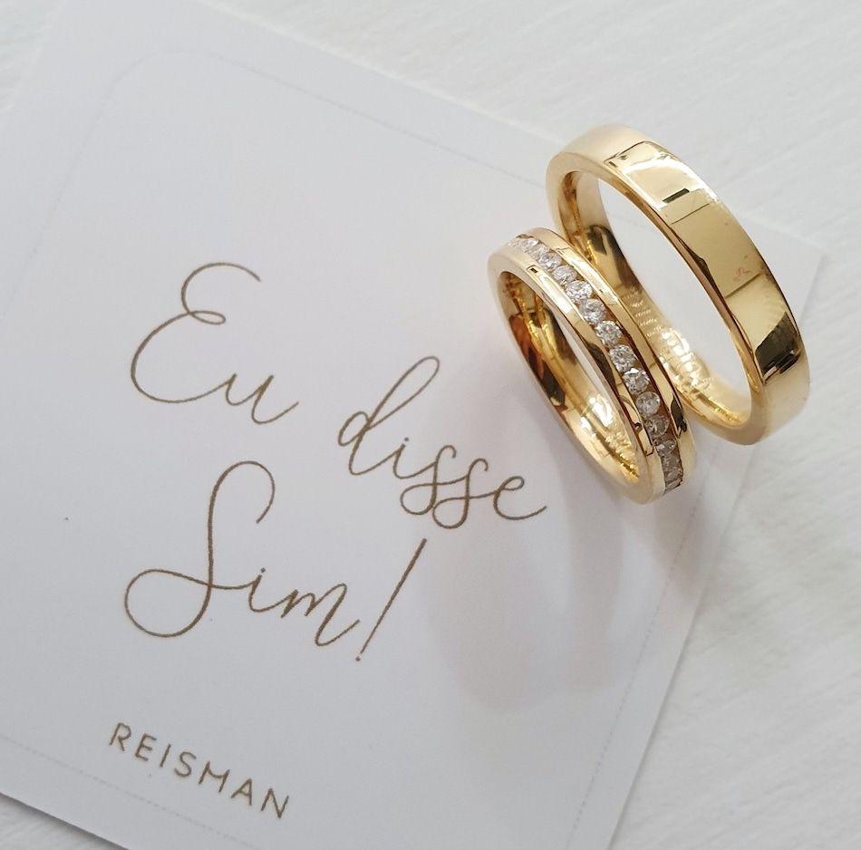 Alianças de Casamento Ouro 18K Encanto