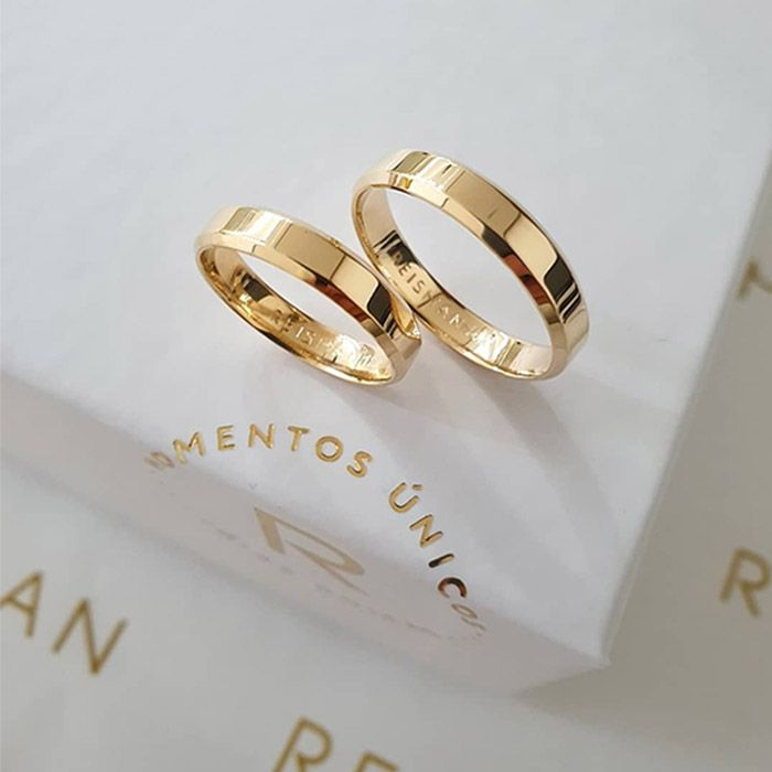 Alianças de Casamento Chuí Ouro 18K