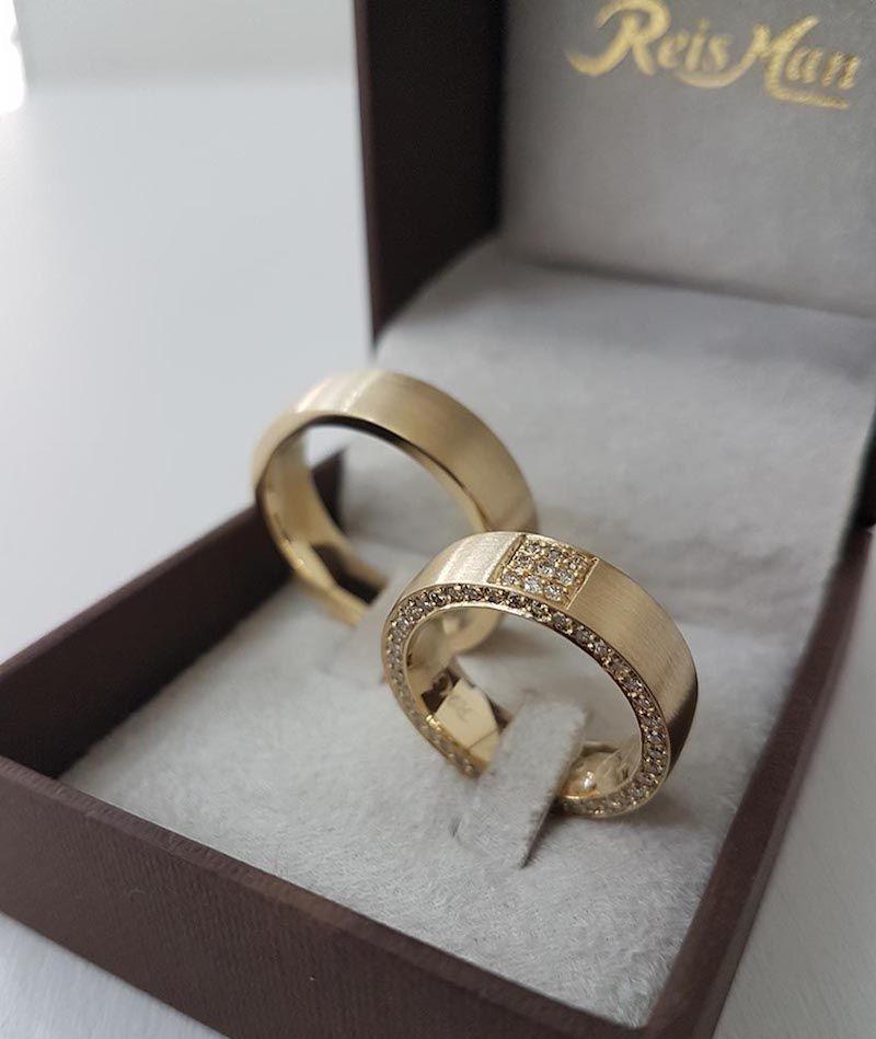 Aliança de Luxo Pienza Ouro 18K