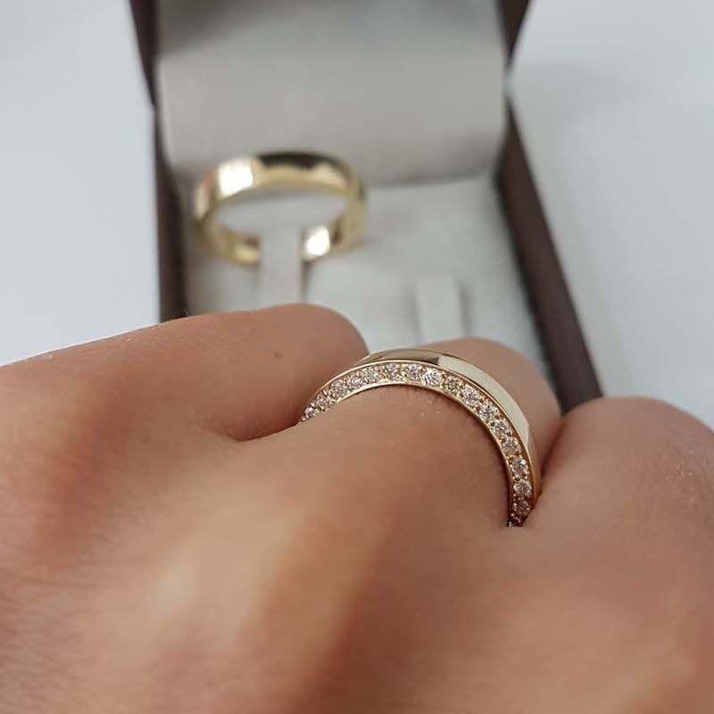 Alianças de Casamento Milão Ouro 18K