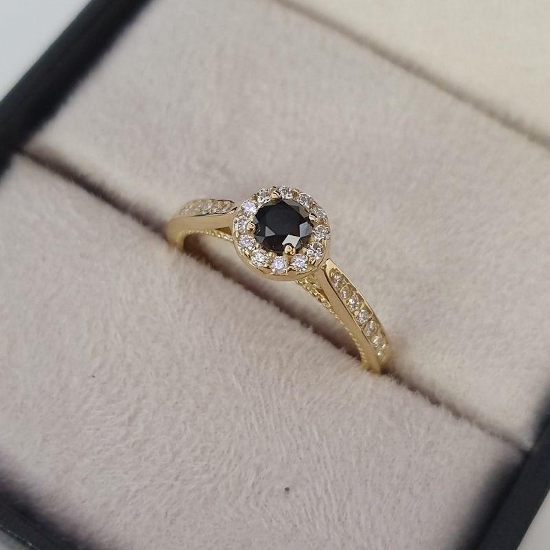 Anel Amore Mio Diamante Negro