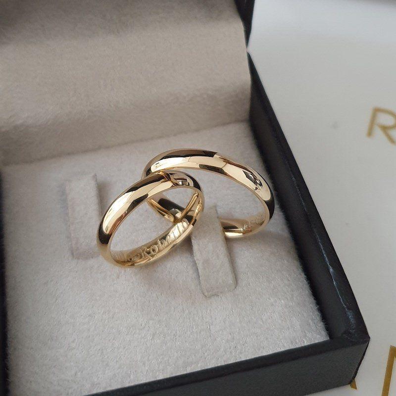 Alianças Anatômicas de Casamento Ouro 18K