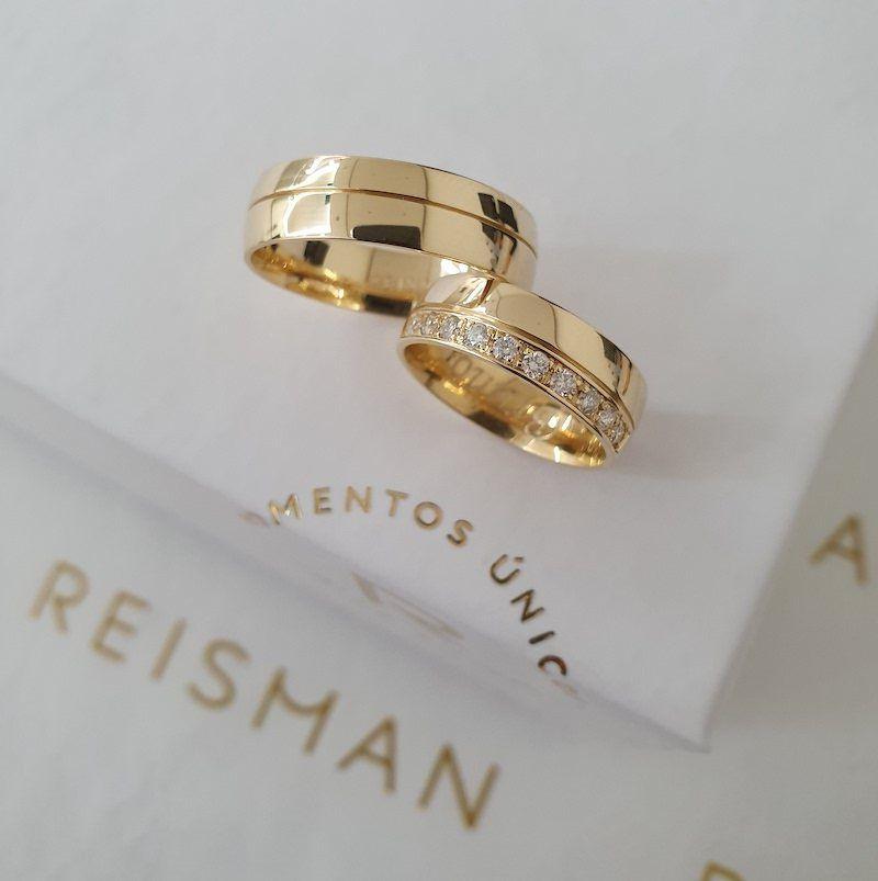 Alianças de Casamento Pinheiros Ouro 18K
