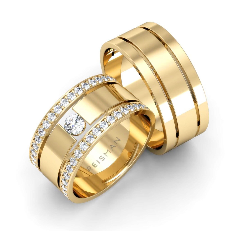 Alianças de Casamento Trieto Ouro 18K