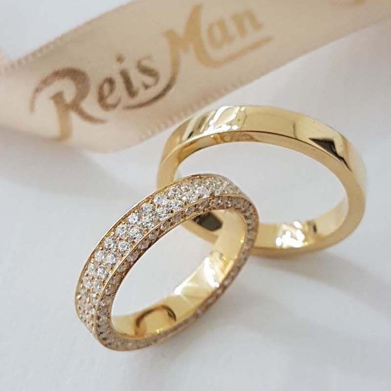 Alianças de Casamento Ouro 18K Malta