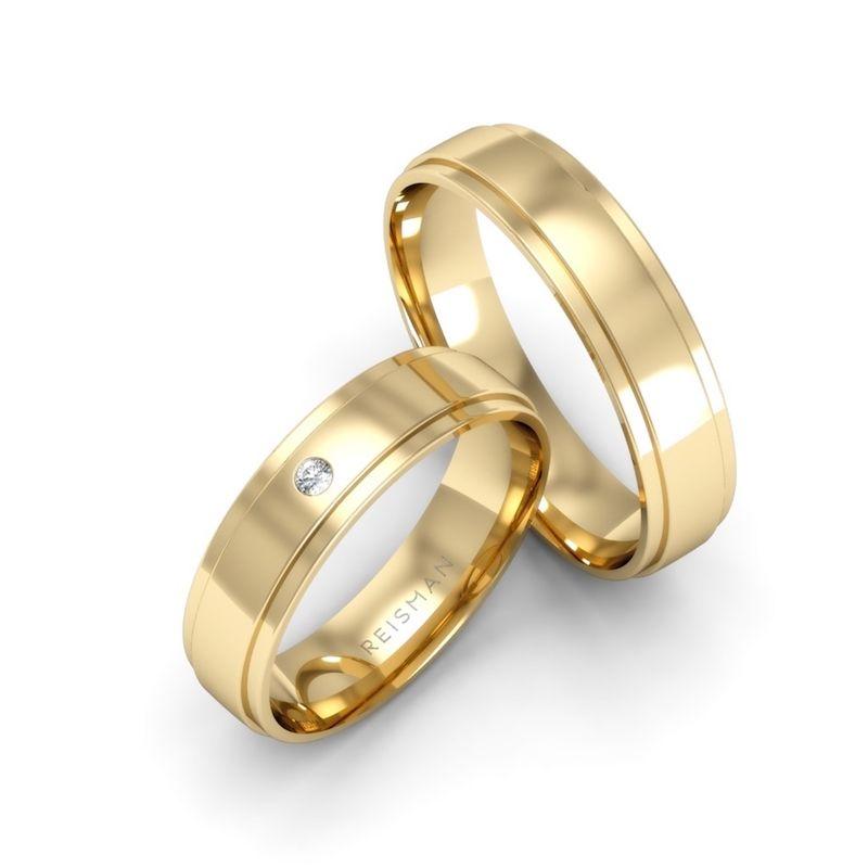 Alianças de Casamento Catanzaro Ouro 18K