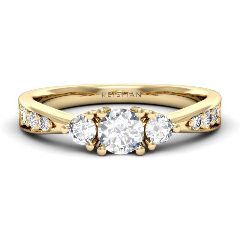 Anel de Noivado Bora Bora com Diamante