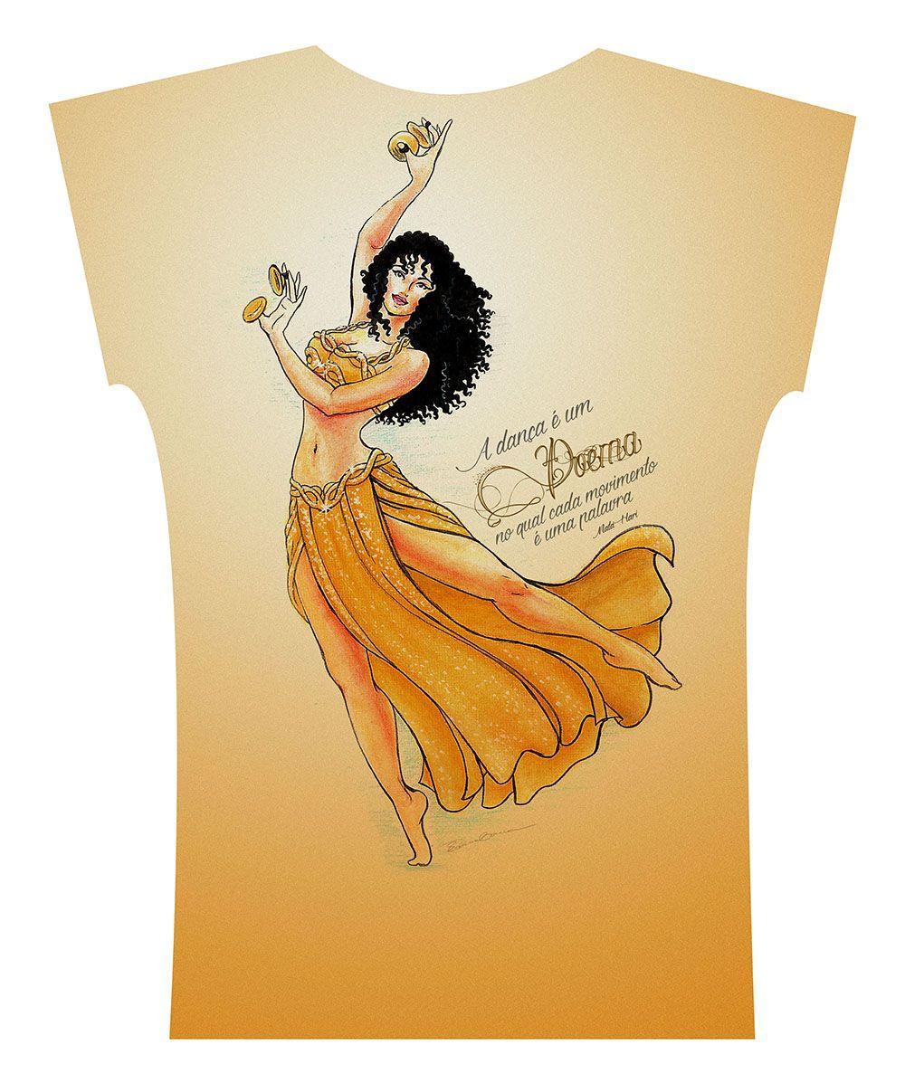 Camiseta . Aquarela Amarela