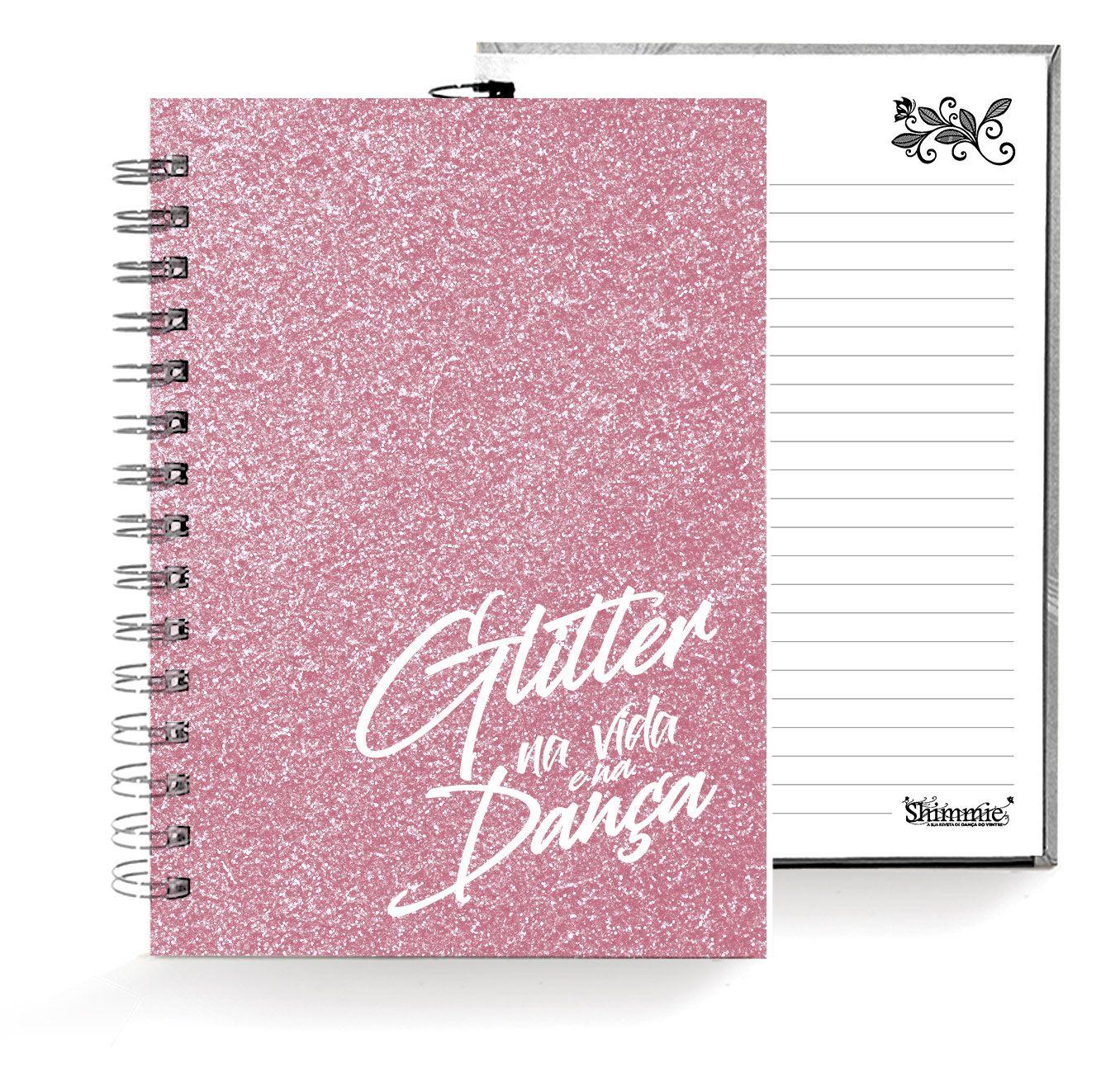 Caixa Glitter . Caderno . Rosa