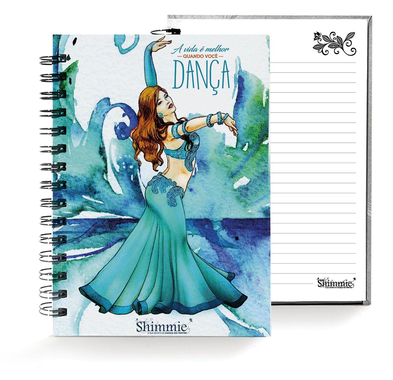 Caderno . Shimmie Esmeralda . Pequeno