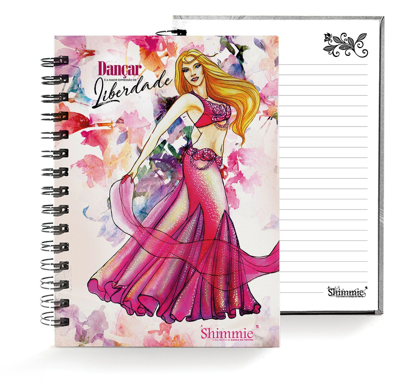Caderno . Shimmie Pink . Pequeno