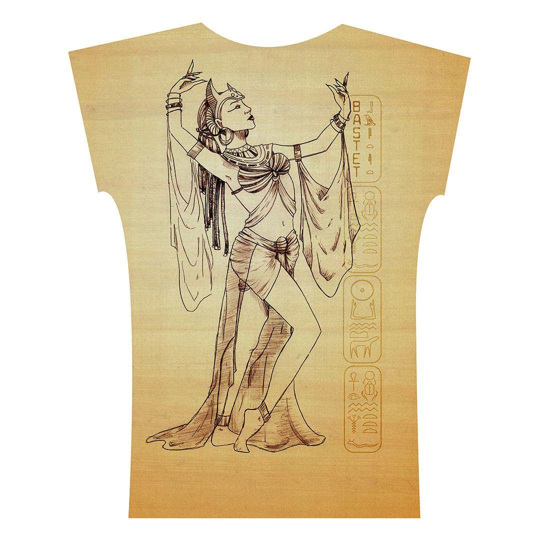 Caixa Egito . Camiseta . Bastet