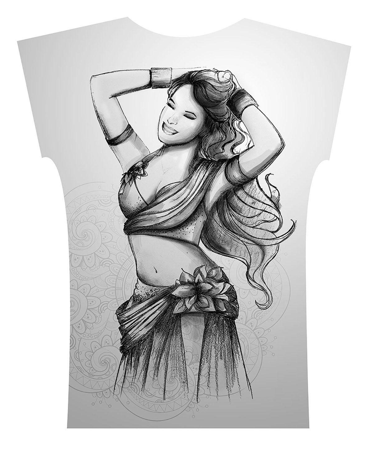 Camiseta . Aquarela Flor Preto e Branco