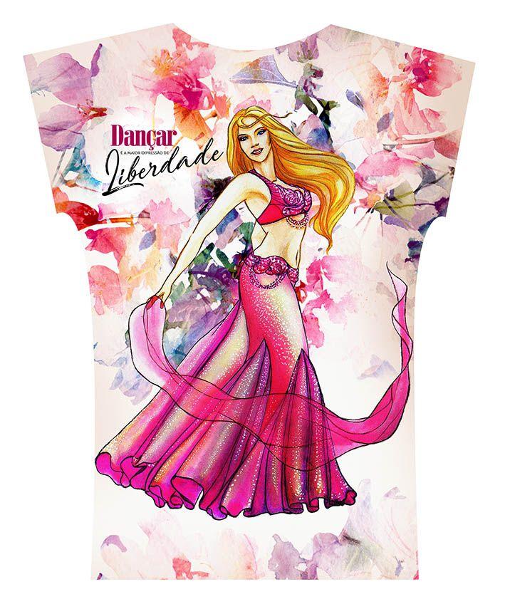 2017. Camiseta . Aquarela Pink