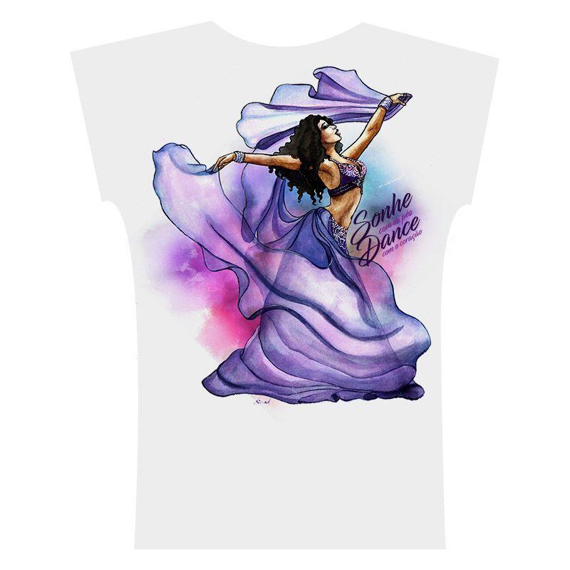 2017 . Camiseta . Aquarela Lilás