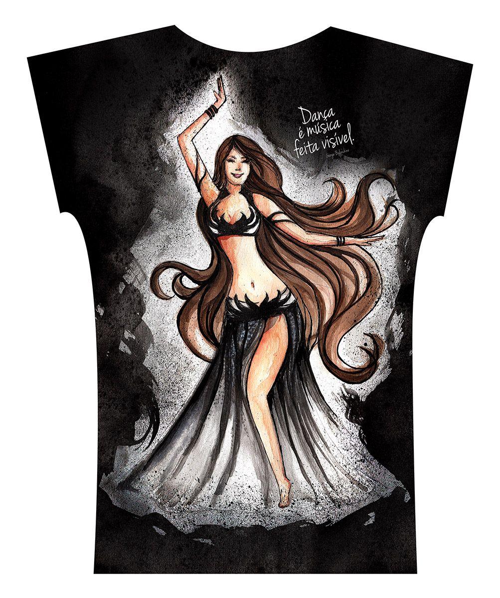 Camiseta . Aquarela Preto e Branco