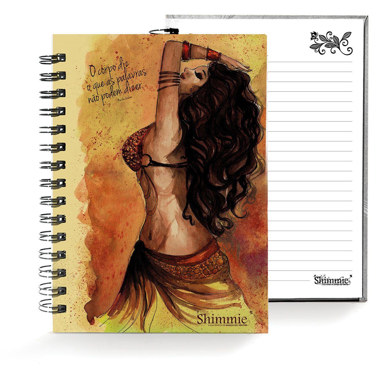 Caderno . Shimmie Marrom . Pequeno
