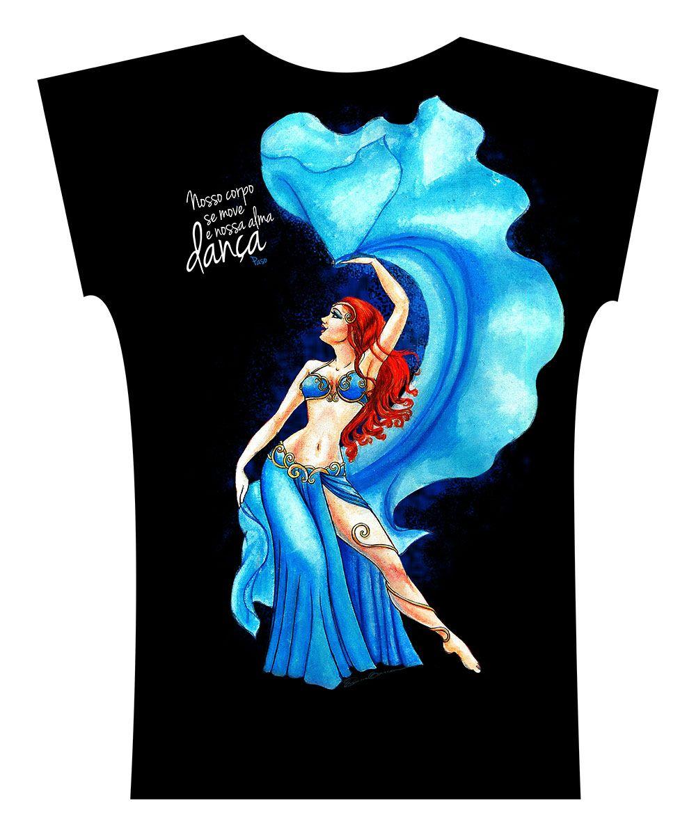 Camiseta . Aquarela Azul