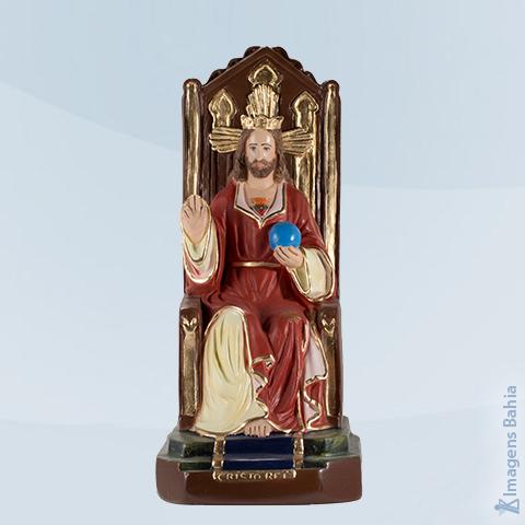 Imagem de Cristo Rei Sentado (Manto Vermelho)