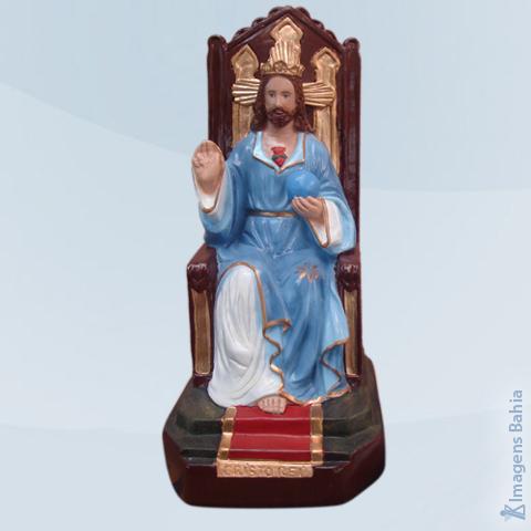 Imagem de Cristo Rei Sentado (Manto Azul )