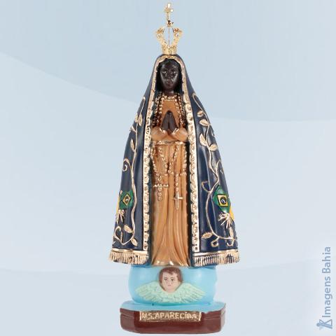 Imagem de Nossa Senhora Aparecida com coroa de metal