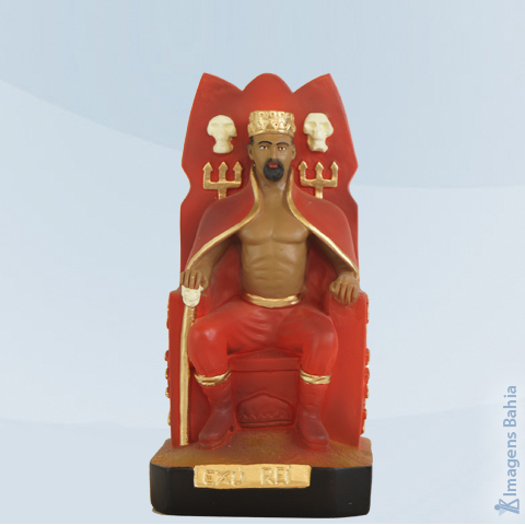 Imagem de Exu Rei no trono